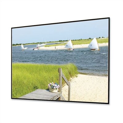 Clarion with Veltex HiDef Grey 106 diagonal Fixed Frame Projection Screen