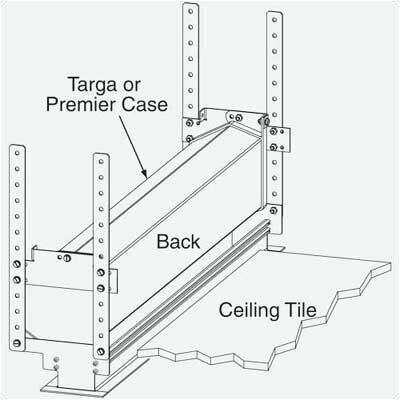 Ceiling Opening Trim Kit for Premier and Targa Screens Case Size: 8 6 1/2 to 10 6 1/2