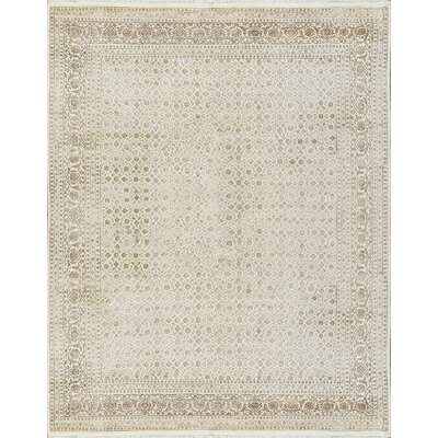 One-of-a-Kind Nirvana Heart Hand-Woven Cream Area Rug