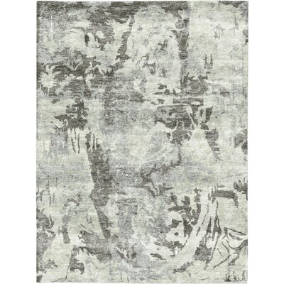 Rayon from Bamboo Silver/Charcoal Area Rug Rug Size: Rectangle 92 x 121
