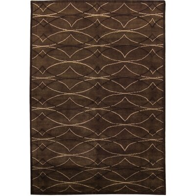 One-of-a-Kind Himalayan Himco Hand-Woven Wool Brown Area Rug