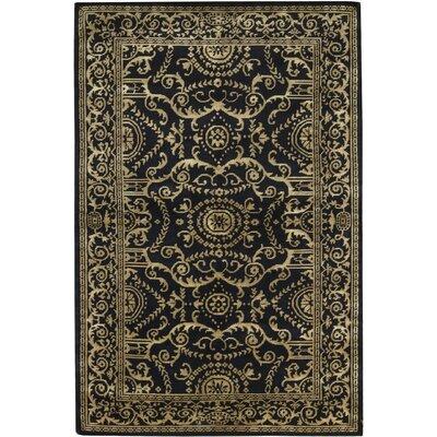 Himalayan Wool Black/Gold Area Rug