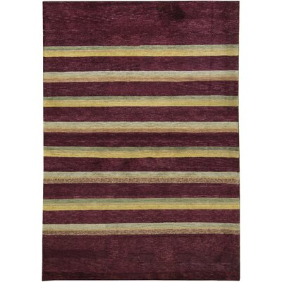 One-of-a-Kind Himalayan Hand-Woven Wool Brown/Yellow Area Rug
