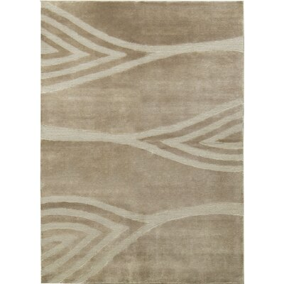 One-of-a-Kind Himalayan Timag Hand-Woven Wool Beige Area Rug