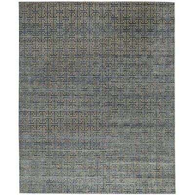 One-of-a-Kind Canterbury Jp Hand-Woven Blue/Ivory Area Rug