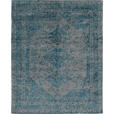 One-of-a-Kind Windsom Hand-Woven Gray/Blue Area Rug