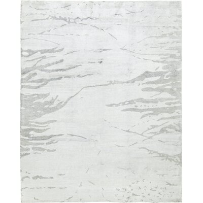 One-of-a-Kind Rayon from Bamboo Gray Area Rug