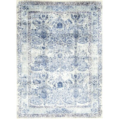 One-of-a-Kind Brookhaven Hand-Woven Blue/Ivory Area Rug