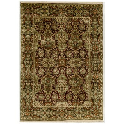 One-of-a-Kind Mountain King Hand-Woven Wool Green/Brown Area Rug