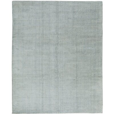 Handloom Wool Light Blue Area Rug