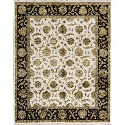 Dharma Wool Ivory/Black Area Rug