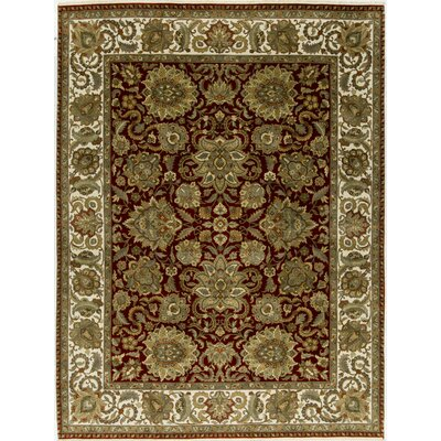 One-of-a-Kind Trinity Hand-Woven Wool Red/Ivory Area Rug