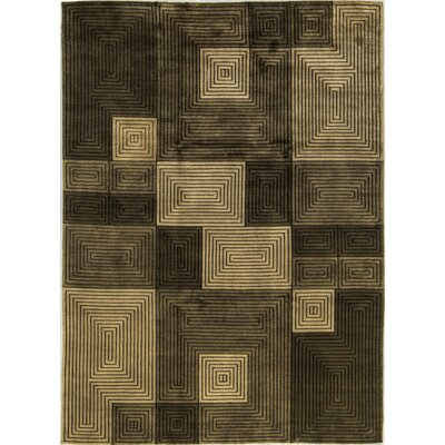 One-of-a-Kind Himalayan Hand-Woven Wool Beige/Brown Area Rug
