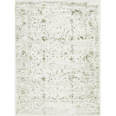 One-of-a-Kind Luxa Ziegler Hand-Woven Ivory Area Rug