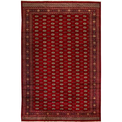 One-of-a-Kind Mori Princess Wine Hand-Woven Wool Red Area Rug
