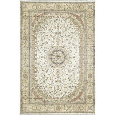 One-of-a-Kind Chinese Art Royal Palace Hand-Woven Beige Area Rug