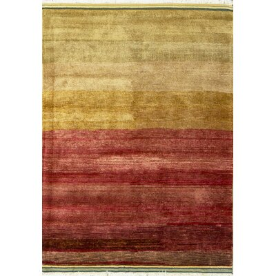 Gabbeh Hand Woven Wool Red/Yellow Area Rug