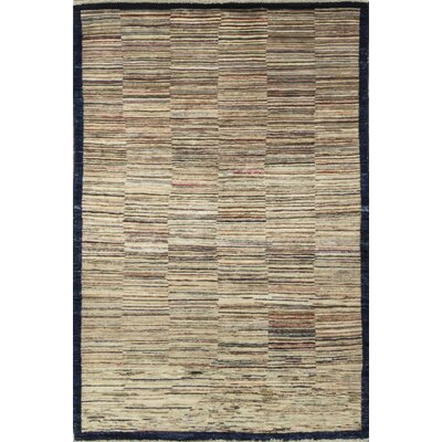 One-of-a-Kind Afghan Gabbeh Hand Woven Wool Woodland Area Rug