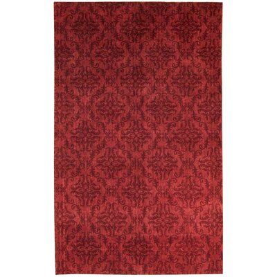 Indian Wool Red Area Rug
