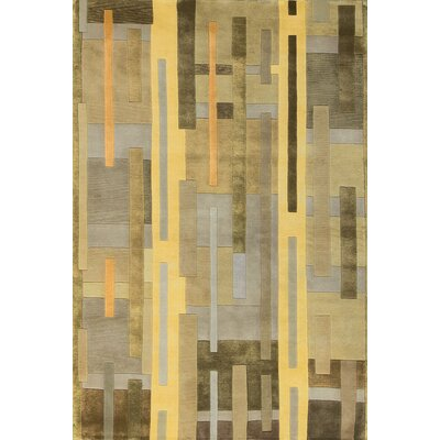 Indian Wool Yellow Area Rug