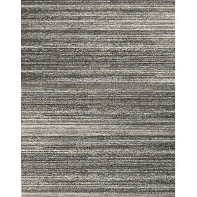 One-of-a-Kind 1100 Hand-Woven Wool Charcoal Area Rug