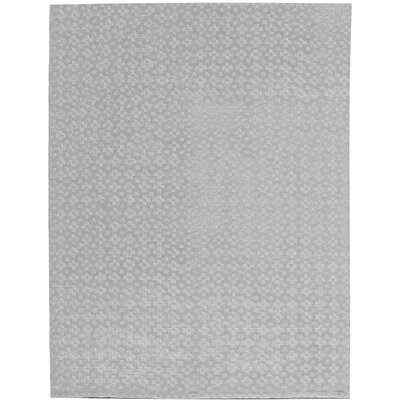 Indian Wool Gray Area Rug Size: Rectangle 48 x 611