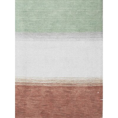 Gabbeh Hand Woven Wool Green/Red Area Rug