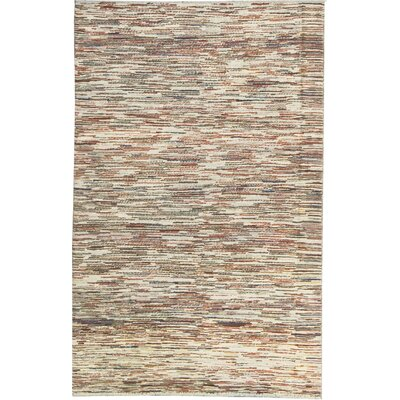 One-of-a-Kind Afghan Gabbeh Hand Woven Wool Beige Area Rug