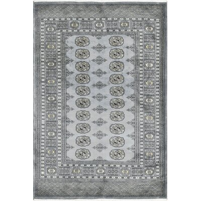 One-of-a-Kind Wool Light Gray Area Rug