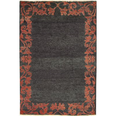 One-of-a-Kind Zarbof Quality Wool Brick Red Area Rug