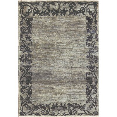 One-of-a-Kind Zarbof Quality Wool Charcoal Area Rug