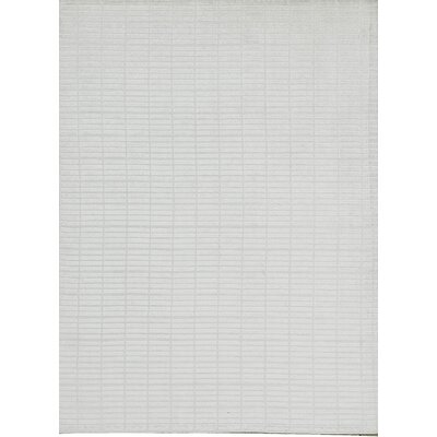 Indian Wool White Area Rug