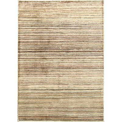 One-of-a-Kind Afghan Gabbeh Hand Woven Wool Autumn Area Rug