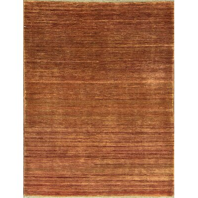 One-of-a-Kind Afghan Hand Woven Wool Rustic Brown Area Rug