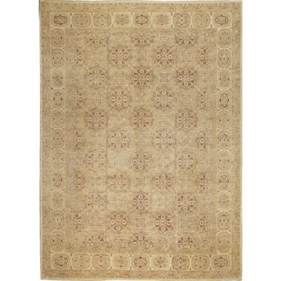 One-of-a-Kind Ziegler 2000 Octogon Spread Hand-Woven Wool Brown/Beige Area Rug