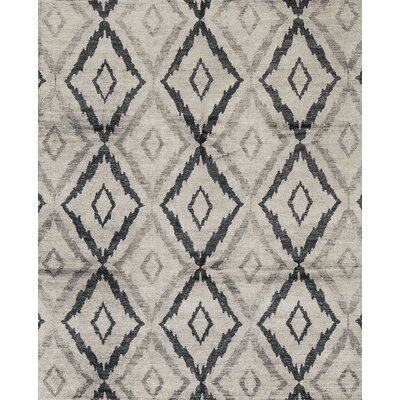 One-of-a-Kind Modern Hand-Woven Gray Area Rug