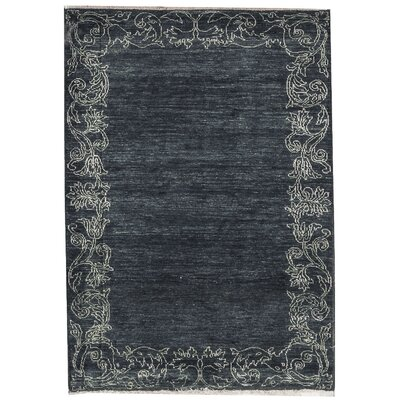 One-of-a-Kind Zarbof Quality Wool Midnight Area Rug