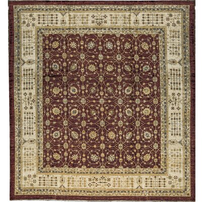 One-of-a-Kind Ziegler 2000 Symmetrical Vines Hand-Woven Wool Brown/Beige Area Rug