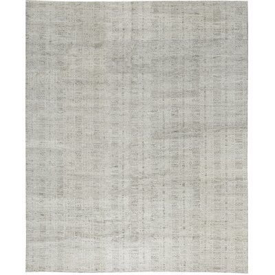 One-of-a-Kind Moroccan Ancient Swirl Hand-Woven Wool Gray Area Rug