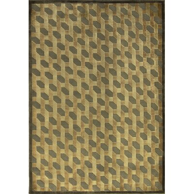 One-of-a-Kind Indian Hand-Woven Wool Taupe Area Rug Size: Rectangle 56 x 79
