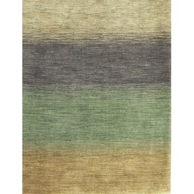 Gabbeh Hand Woven Wool Green/Yellow Area Rug