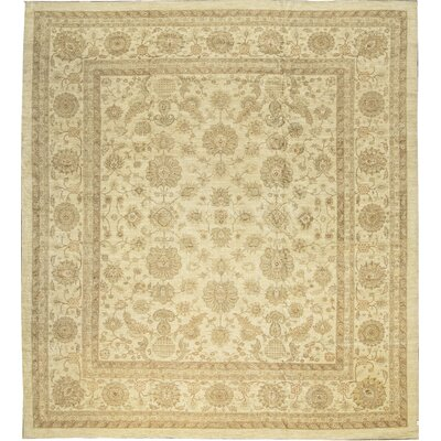 One-of-a-Kind Sultanabad Ancient Hand-Woven Wool Cream Area Rug Rug Size: Rectangle 157 x 172