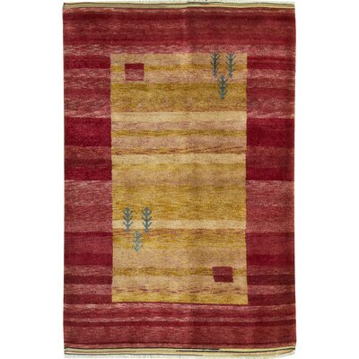 Moroccan Hand Woven Wool Red/Yellow Area Rug