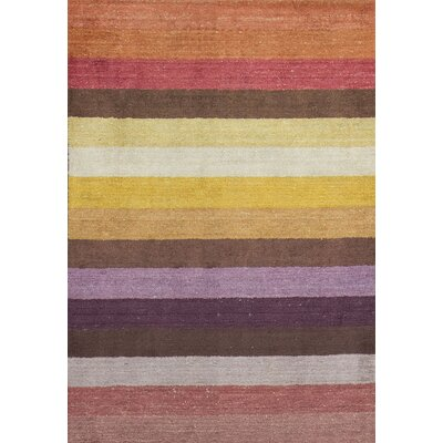 Indian Wool Yellow/Red Area Rug