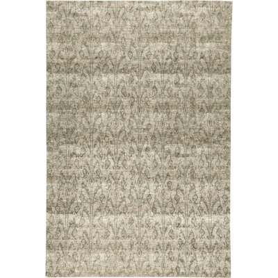 One-of-a-Kind Himalayan Art Cornfield Hand-Knotted Beige/Light Blue Area Rug