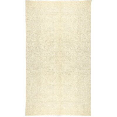 Sultanabad Hand-Woven Wool Cream Area Rug