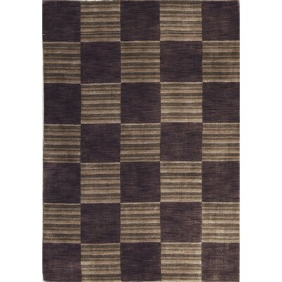 Gabbeh Hand Woven Wool Brown Area Rug
