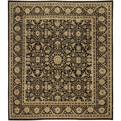 One-of-a-Kind Sultanabad Golden Boutique Hand-Woven Wool Black/Brown Area Rug