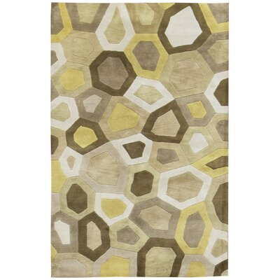 Indian Wool Yellow/Beige Area Rug