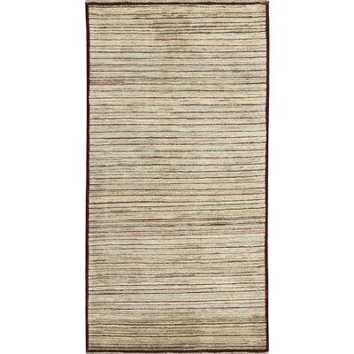 Afghan Gabbeh Multi Hand Woven Wool Cream Area Rug
